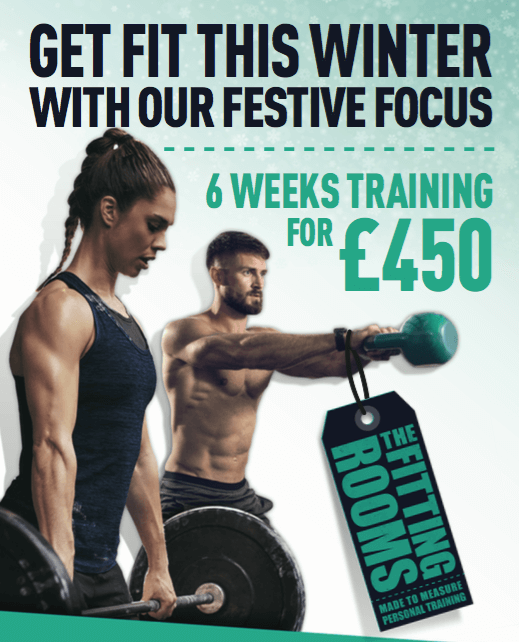 Gwet Fit for Christmas with the Festive Focus Shared Personal Training Offer from The Fitting Rooms