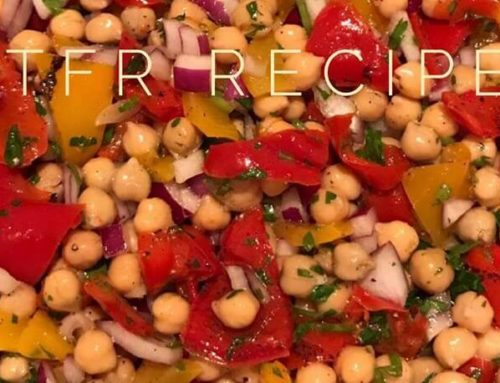 A great recipe for veganuary – chickpea & roast pepper salad