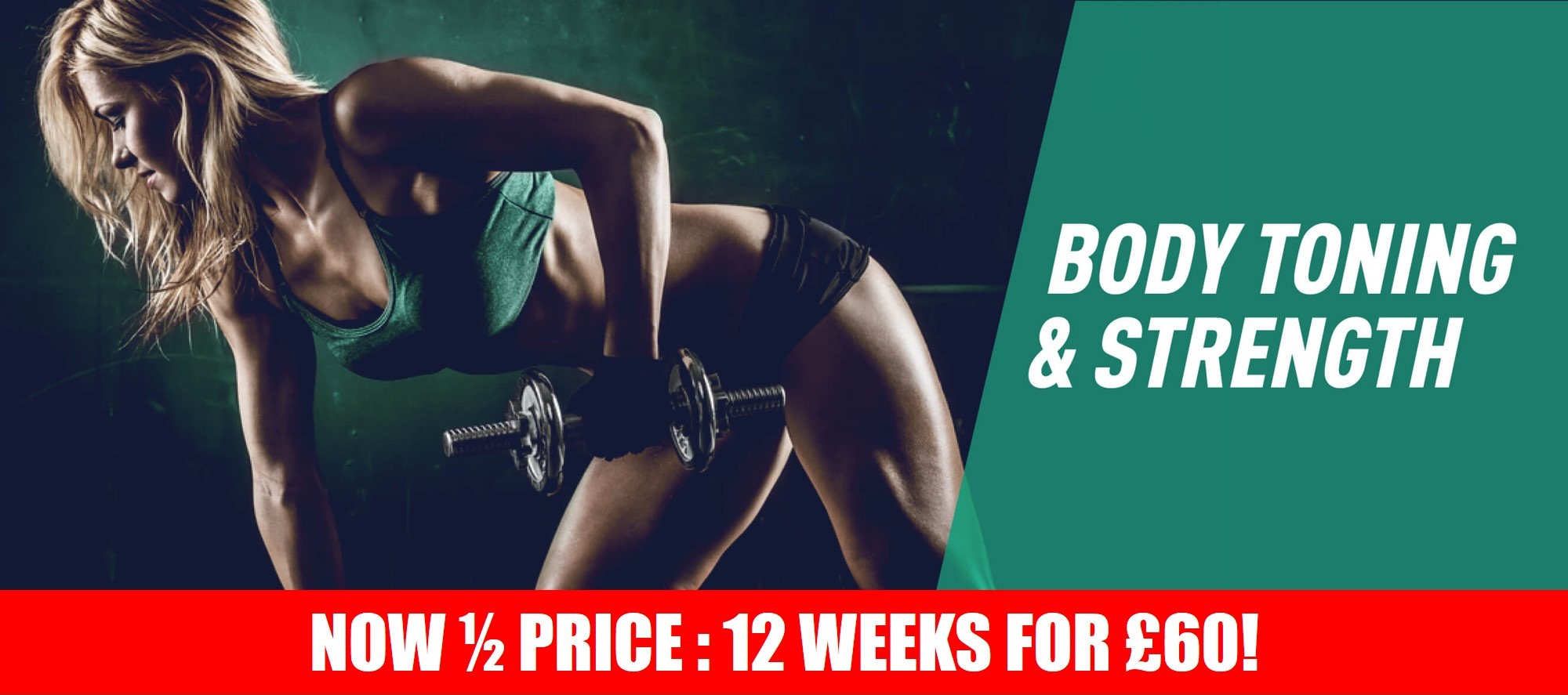 Body Toning & Strength - Online Programme - 50 SALE Banner