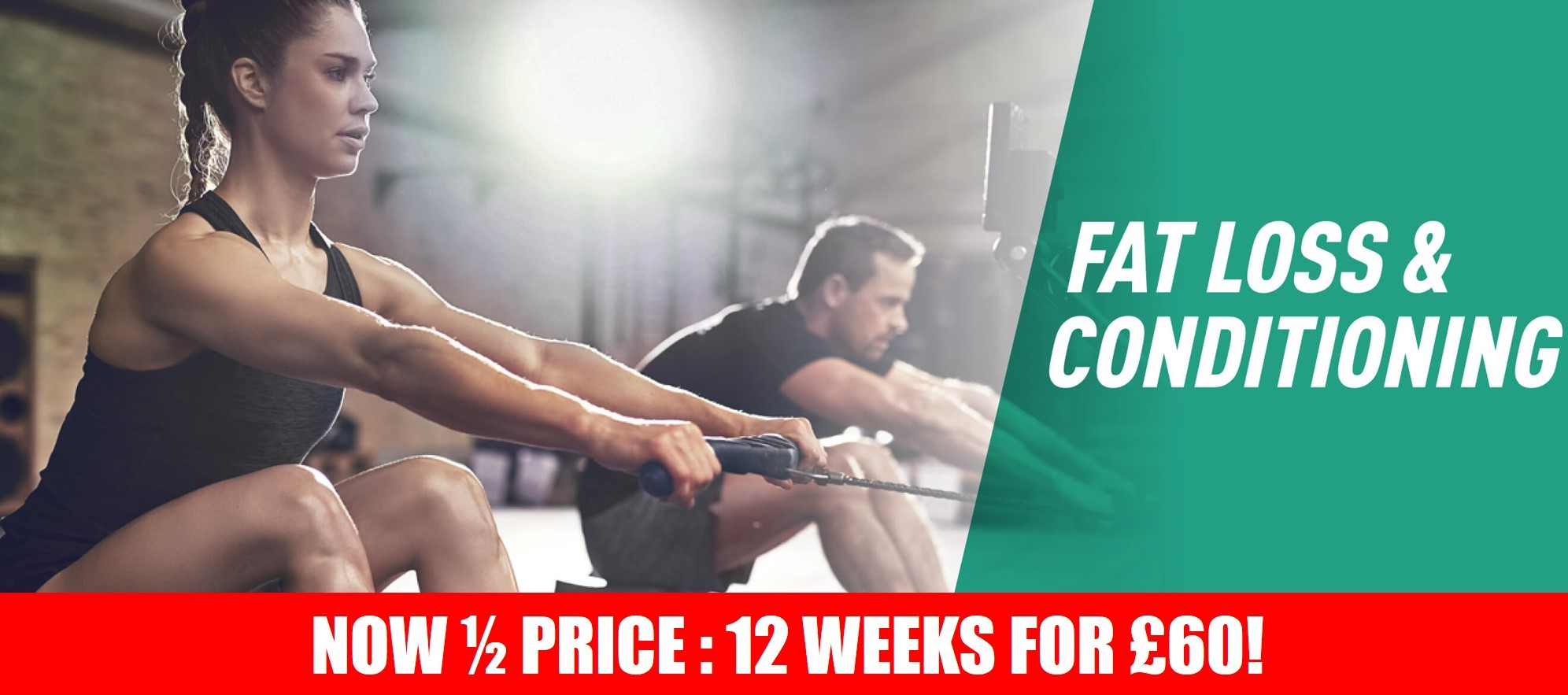 Fat Loss & Conditioning - Online Programme - 50 SALE Banner
