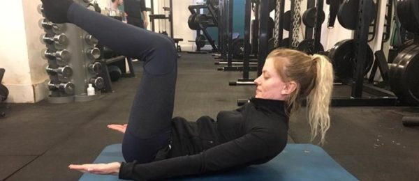 Hollow Hold exercise position 1