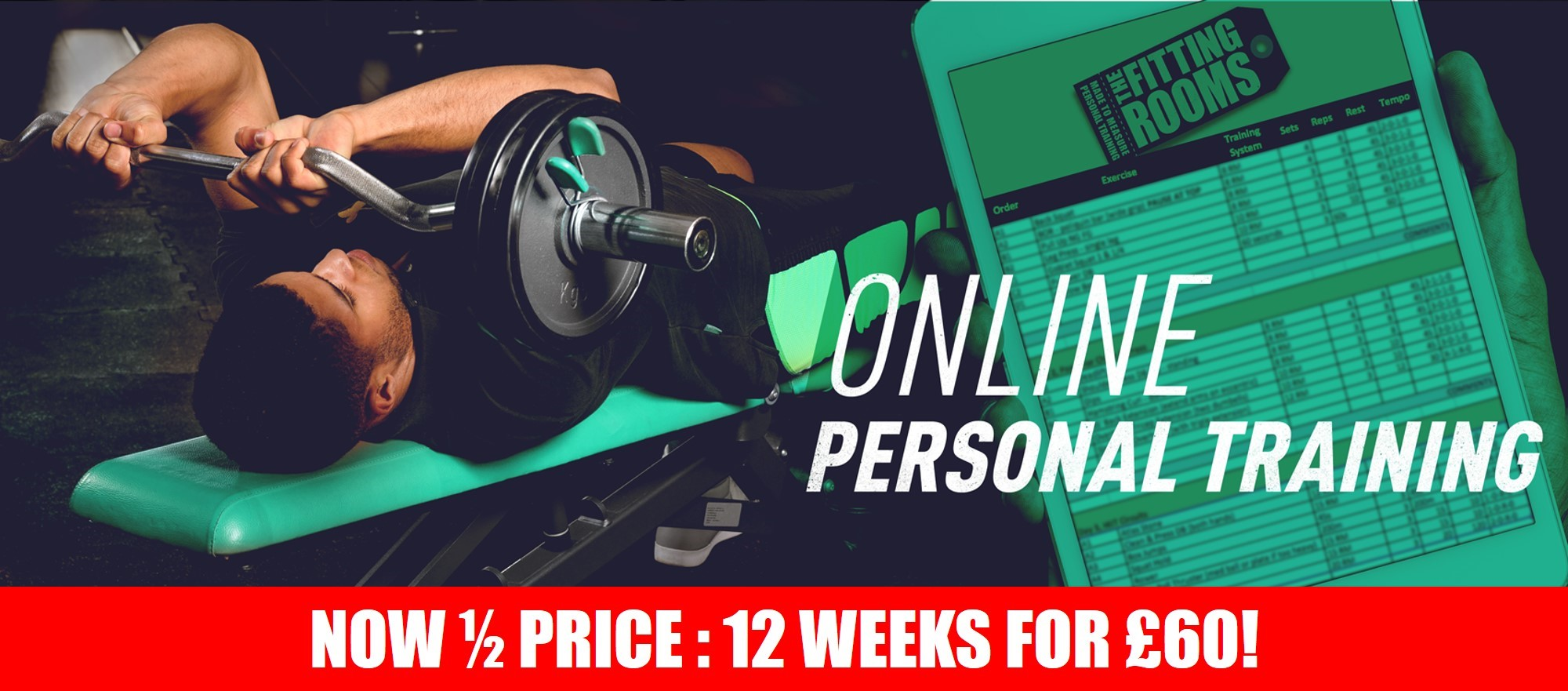 Online Personal Training for Men 50 SALE banner