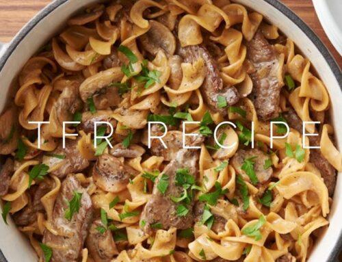 Healthy beef stroganoff recipe